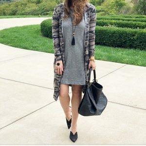 Sweaters - XS camo duster hooded cardigan